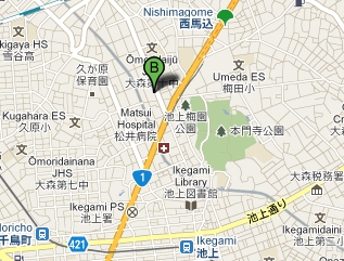 Gotanda Apartment Nishimagome railway map